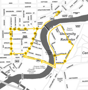 U of R Goldline Shuttle Map